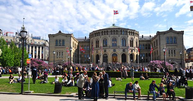 Parlament Storting 17 Mai Oslo Politik