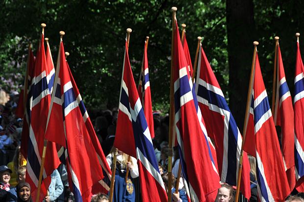 17 Mai Flagge Fahne Norwegen