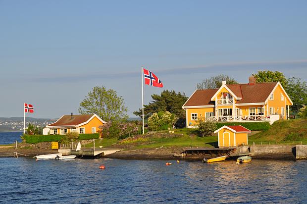30 Hytte Ferienhaus Boot Flagge Fahne