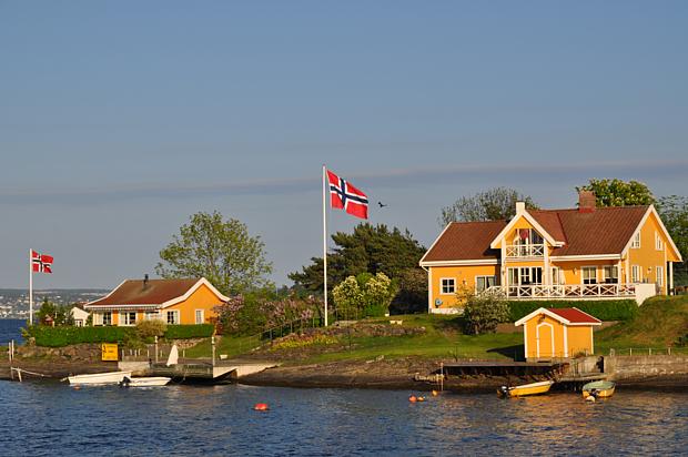 Urlaub in Norwegen, am Fjord