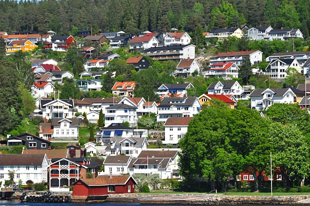 Drøbak Häuser Leben Wohnen Gesellschaft Politik