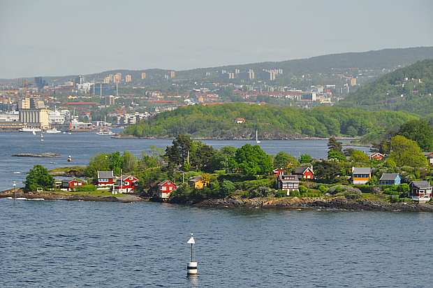 Insel Oslo Oslofjord Häuser Gesellschaft Wirtschaft