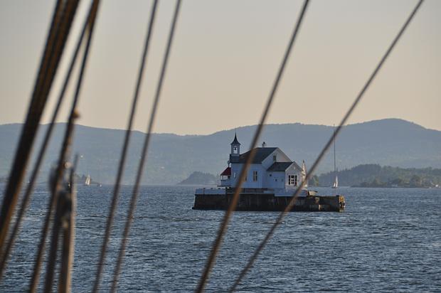 Leuchtturm Oslofjord Segelboot