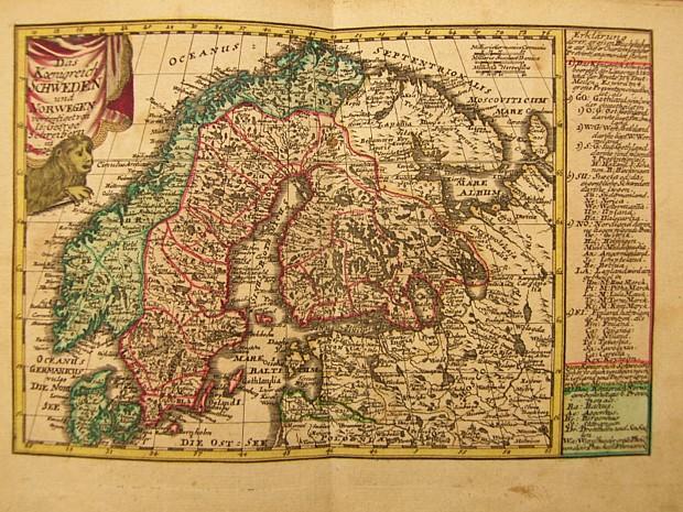 Skandinavien Karte Geschichte