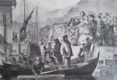 Auf dem Fischmarkt in Bergen im 19. Jahrhundert