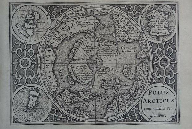 Nordpol Karte Hondius