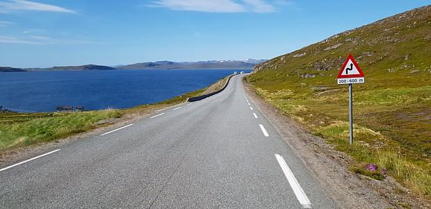 Nordkapp Verkehr Strasse Verkehrsschild